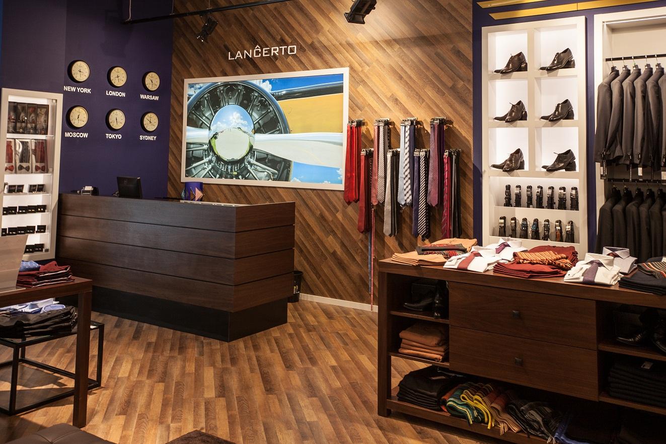 shop concept sklepu z odzieżą męską Lancerto