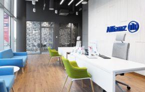 aranżacja biura dla firmy ubezpieczeniowej